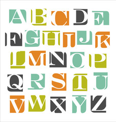 abstract modern alphabet poster