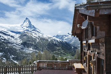 Zermatt and Mountain Matterhorn in Switzerland
