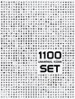 Zdjęcia na płótnie, fototapety, obrazy : Universal flat circle icons set bw 1100