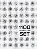 Fototapety Universal flat circle icons set bw 1100