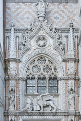 Details of St Mark's Basilica in Venice, Italy