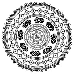 Aztec sign on white background.