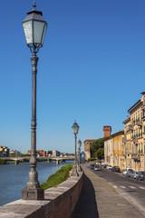 Arno River in Pisa, Italy