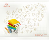 Fototapety Studying and education infographics vector