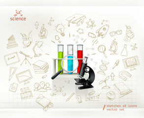 Science, infographics vector