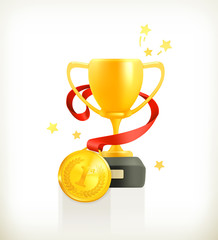 Gold Award, vector icon
