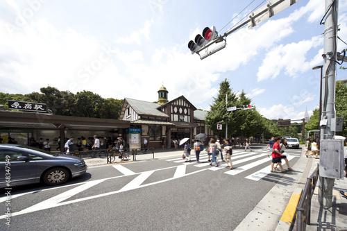 Staande foto Treinstation 原宿駅