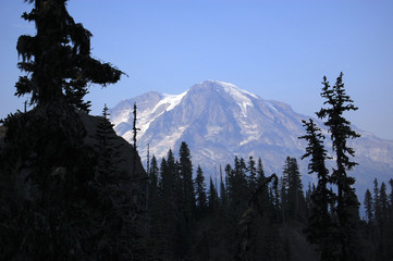 Mount Rainier, the tallest peak in Washington state