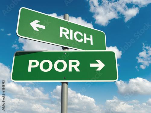 rich poor