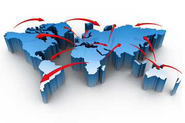 Global business network  concept .