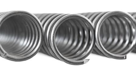Closeup of steel springs
