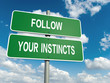 Постер, плакат: follow you instincts
