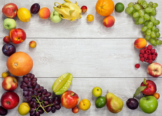 photography of different fruits and vegetables on wooden table