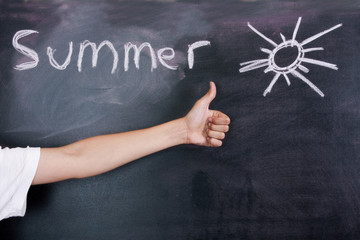 Child celebrating summer concept, people and lifestyle