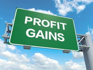 profit gains