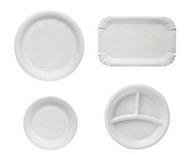 Disposable plates.