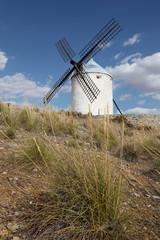 Traditional windmill in Castilla-La Mancha, Spain