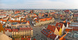 Panoramic view on town square, Wroclaw, Poland