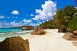 canvas print picture - Tropical beach at Seychelles