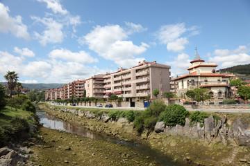 Coastal town Castro Urdiales, Cantabria, Spain