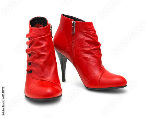 canvas print picture Red shoes