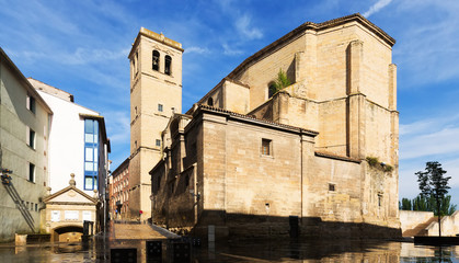 Day view of Church of Santiago el Real in Logrono