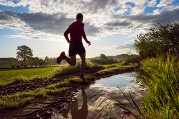 Trail running in campagna