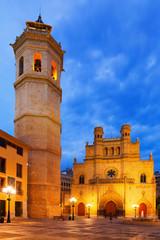 Fadri tower and Gothic Cathedral  at Castellon de la Plana