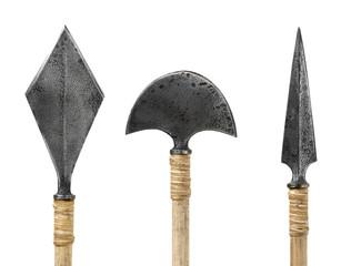 Silver arrowhead isolated