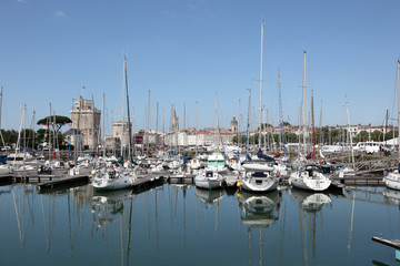 Yachts in the marina of La Rochelle, Charente Maritime, France