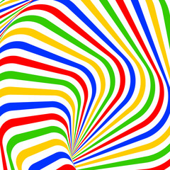 Design colorful vortex movement illusion background