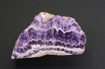 Polished amethyst from South Africa. 20cm across.