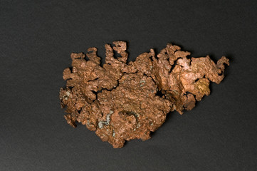Native copper from Arizona, USA. 15cm across.