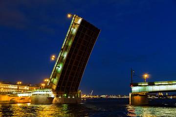 Bridge in the city of St. Petersburg