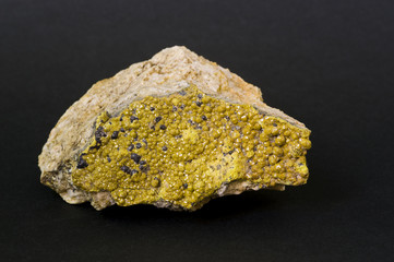 Mimetite from Great Britain. 8cm long.
