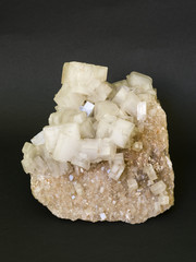Rock salt (halite) from Germany. 22cm across.
