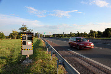 Speed camera at the road side