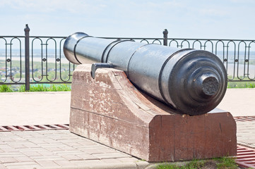 Old cannon in fortifications