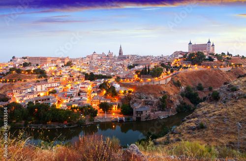 Staande foto Rome view of Toledo from hill in summer morning