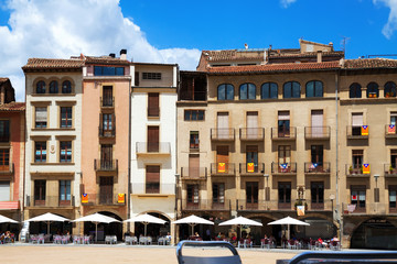 View of Plaza Mayor in Vic