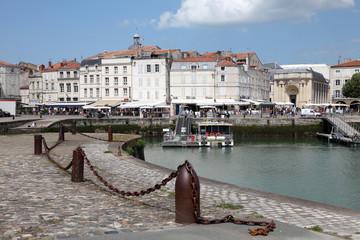 Promenade in the old town of La Rochelle, France