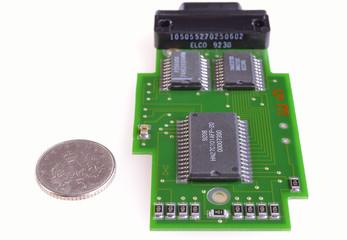 miniature electronic printed circuit card