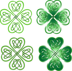 four leaf clover - celtic ornament