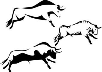 stylized bull
