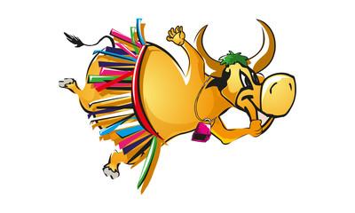 A buffalo performing Samba