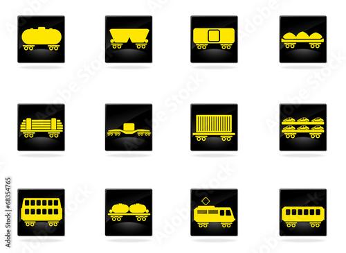 rail-freight traffic icons