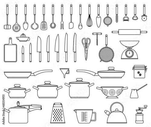 Kitchen tools and utensil - 68354951