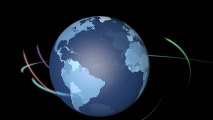 地球儀とネットワークイメージ