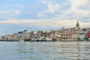 Istanbul view with galata tower