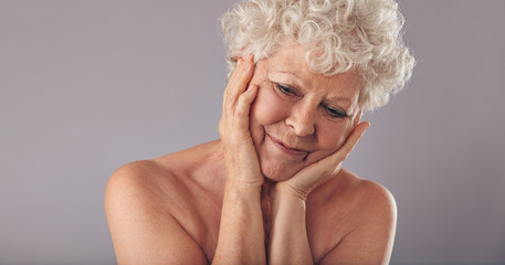 Elderly woman brings back memories of young age